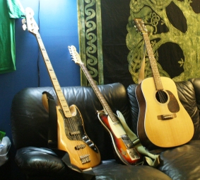 You can't not take a picture of my guitars.
