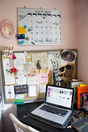 My bulletin board is my mood board. It has everything that inspires my creative juices.